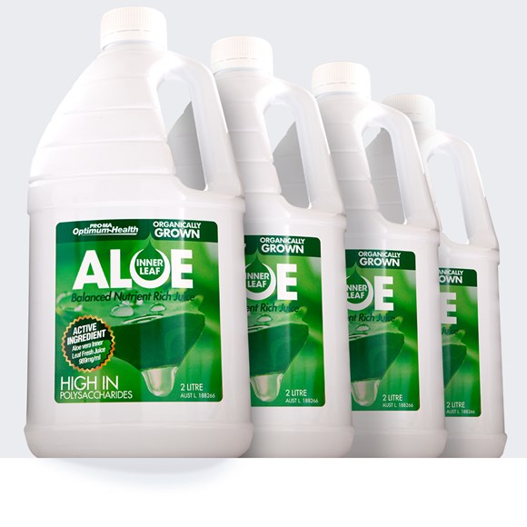2L x 4 Organically Grown Inner Leaf Aloe Juice